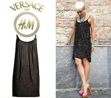VERSACE ~ NEW luxury black Jersey studded dress * AUTHENTIC Versace H&M
