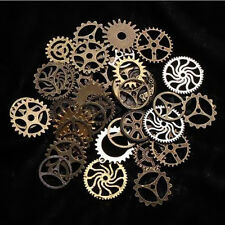 65pcs 100g Jewelry Cogs DIY Bronze Art Craft Steampunk Gears Watch Parts