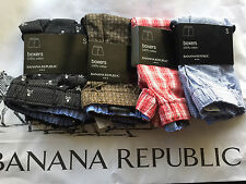 Lot of 4 BANANA REPUBLIC Mens COTTON BOXER Underwear S NEW FREE FAST SHIPPING