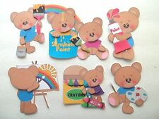 3D-U Pick-Paint Rainbow Bear Sunshine Easel Scrapbook Card Embellishment #1860