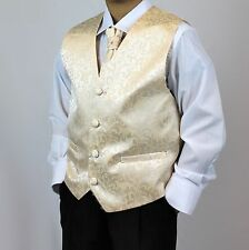 Boy Waistcoat Suit, Page Boy Suits, Wedding Suits, Boys Trousers,Gold waistcoats