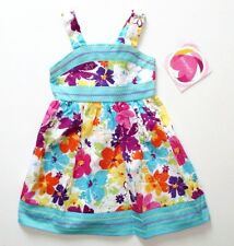 New Toddler Girls 3T Aqua Pink Purple Floral Sparkly Dress Youngland Sundress