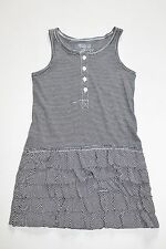 New OshKosh Toddler Girls 3T Knit Black White Stripe Tank Ruffle Summer Dress