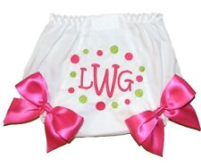 Personalized Baby Girls Diaper Cover Bloomers Lavender & Brown Dots Free Ship