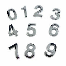 Silver House Hotel Door Address Plaque Number Digits Sticker Plate Sign House