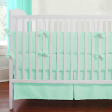 3 Piece Baby Cradle Bedding set Solid Fitted Comforter Bumper