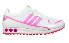 ADIDAS LA TRAINER J GIRLS SIZE 5.5 WHITE PINK TRAINER SHOE