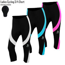 Ladies Cycling 3/4 Shorts Running Tights Three Quarter Bicycle Legging All Sizes