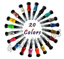 Nail Art Two-Way Pen and Brush Polish 20 colors USA seller- glitter, neon, solid