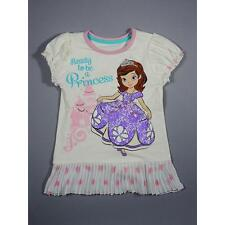 NWT Disney Princess Sofia the First Girl's Chiffon-Tiered Tunic Top Size 6