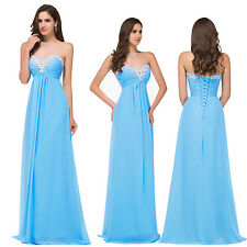 Strapless Beaded Prom Dress Cocktail Evening Party Formal Bridesmaid Ballgowns
