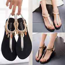 Sparkling Ankle strap Women Flat Sandals Summer Shoes Beach Flip Flop Slippers