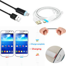 1M/3FT GLOW Light LED Micro USB Fast Data Sync Charger Cable For Andriod Samsung