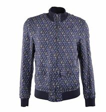 DOLCE & GABBANA Reversible Golf Printed Silk Jacket Blue 04593