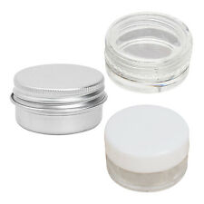 Clear/White Plastic Cosmetic Sample Container Jars Pot Small Empty  SI