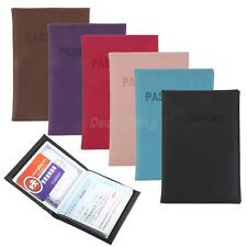 Travel PU Leather Passport ID Credit Card Holder Unisex Tickets Cover Wallet