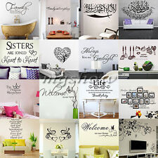 Family DIY Removable Art Words Vinyl Quote Wall Stickers Decal Mural Home Decor