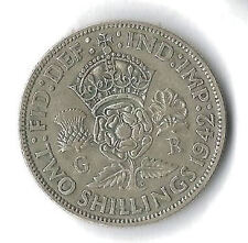 George VI Two-Shilling Coins 1937-1946