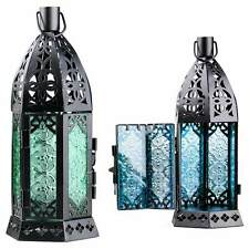 Glass Metal Moroccan Delight Garden Candle Holder Table/hanging Lantern Fine