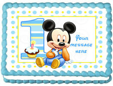 BABY MICKEY MOUSE Image Edible Cake topper design