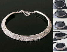 Charming Crystal Rhinestone Collar Choker Necklace Wedding Birthday Jewelry Gift