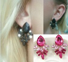 Fashion Women Earrings Rhinestone Crystal Drop Lady Ear Stud Earrings Party Gift