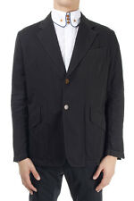 VIVIENNE WESTWOOD LONDON men Black blazer Jacket 100% cotton made in italy