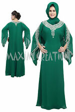 NEW JALABIYA JILBAB GEORGETTE MOROCCAN CAFTAN WEDDING GOWN MODERN DRESS  5206