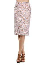 PRADA Women New Original Multicolor Floral Patterned Pencil Skirt Made Italy