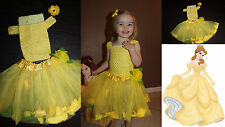 Baby Girl Child Disney Beauty Princess BELLE inspired Costume Dress Tutu Outfit
