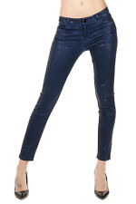 BROCKEN BOW Women laminated Pants Trousers CROPPED SKINNY Navy Fit Authentic