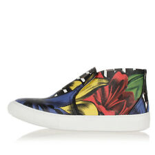 PIERRE HARDY Women Multicolor Printed Canvas Sneakers New with Tag