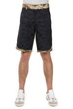 GOLDEN GOOSE Men Camouflage Printed Cotton Bermuda Pants Made in Italy