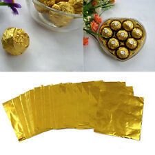 """100x/Set Square Candy Sweets Chocolate lolly Foil Wrappers Confectionary 3"""" X 3"""""""