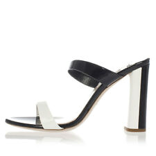 MIU MIU Woman Black and White Patent Leather Sandal Made in Italy New