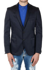 TONELLO Men Blue Cotton and Linen Blazer Jacket Made in Italy New with Tag NWT