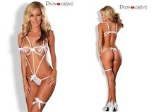 Provocative lingerie Sexy Hot Deep Secrets Stappy White Lingerie Body Sexy Teddy