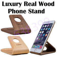 Universal Wooden Cellphone Desktop Stand Holder For iPhone Samsung Sony LG HTC
