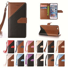 Luxury PU Leather Color Stitching Case Cover & Hand Rope for Apple iPod Touch 5