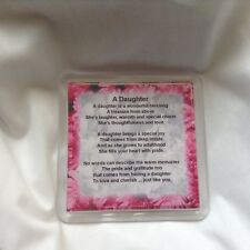 Personalised Coaster - Daughter  Poem + Free Gift Box  -  Various designs