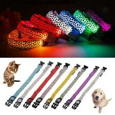 Various Leopard LED Collar Pet Dog Puppy Cat Light Night Safety Tracking CHOOSE