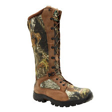 Rocky Mens Mossy Oak Leather Waterproof Snake Proof Hunting Boots