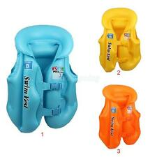 Kids Child Inflatable Buoyancy Aid Swimming Floating Life Jacket Vest 3 Colors