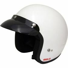 Viper RS-04 Gloss White Retro Motorcycle Scooter Motorbike Helmet Open Face New