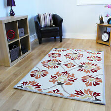 Small Large Non Shed Living Room Rugs Thick Soft Wool Floral Pattern Lounge Rugs