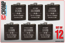 Groomsman Gifts Set of 12 Personalized Engraved Flask, Wedding Bridesmaid Party