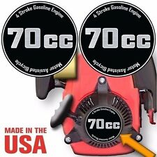 70cc,4 Stroke Motorized Bicycle Engine Decals Graphic Detail Kit Emblem