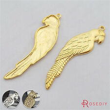 10PCS 55*15MM Alloy Parrot Charms Pendants Jewelry Findings Accessories 29350