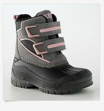 NIB NWT Toddler & Girls 9 1 Black Pink Gray Winter Pac Snow Boots Totes Kitty