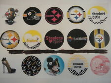 Steelers mix flat back or pin badge cabochons embellishment bow centers